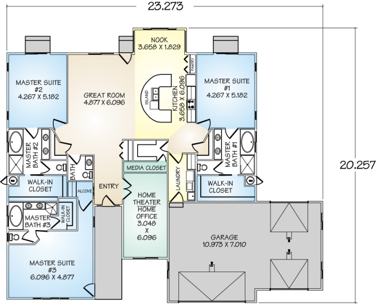 house plans with drive through garage